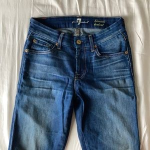 7 for all mankind kimmie bootcut jeans size 25